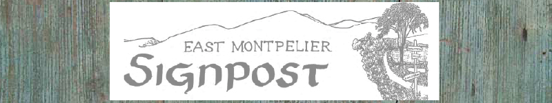 East Montpelier  Signpost in Vermont